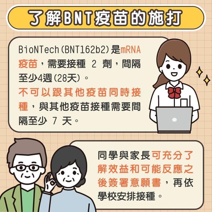 了解BNT疫苗的施打